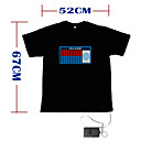 Sound and Music Activated EL Visualizer VU-Spectrum Dancer T-shirt - M (2*AAA)