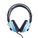 kanen km-740 stilfulla stereohörlurar (blå)