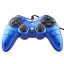 vinyson usb cablato controller di gioco dual-shock per pc (blu)