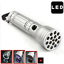 3-in-1 Multifunction 15-LED Flashlight (100LM, 3x10440, Silver)