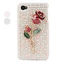 Metall stieg gestylt Schutzhülle für das iPhone 4 und 4S (rosa)