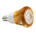 E14 6W 420LM 5000K Natural White Light Golden Shell LED Spot Bulb (85-265V)