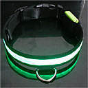 9Protecollar - Adjustable Nylon Night Safety LED Light Dog Collar (40-50cm/15.7-19.7inch, Assorted Colors)