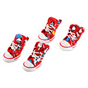 Socks & Boots for Dogs Red Shoes Spring/Fall PU Leather