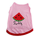 Sweet Watermelon Cotton T-Shirt Vest for Dogs (XS-M)