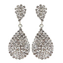 Water Drop dangly Rhinestone Volledig Jewelled Earring