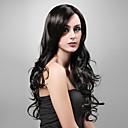 capless 특별히 긴 길이의 고품질 합성 자연스러워 검은 곱슬 머리 가발