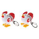 2-Pack Keychain Coq mignon avec son et Effet lumineux