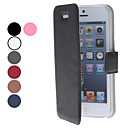 Ultrathin Protective PU Leather Flip-Open Case for iPhone 5/5S (Assorted Colors)