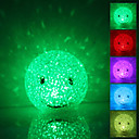 Smile Face Shaped Colorful Light Crystal LED Night Lamp (3xLR44)