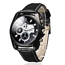 Men's Business Style Black Dial PU Leather Band Quartz Wrist Watch