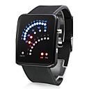 Orologio 29-LED, dall'originale design a punti, cinturino in silicone - Nero