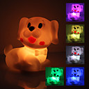 Søt hund formet fargerike LED Night Light (3xAG13)