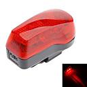 Rojo + Negro ABS 7 Super Bright LED / 4 bicicletas Intermitente Modo de luz de seguridad