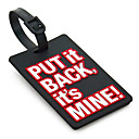 Travel Luggage Tag - PUT it BACK,it's MINE(Black)