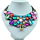 Buy Necklace Statement Necklaces Jewelry Wedding / Party Daily Fashion Alloy Resin Rhinestone Silver 1pc Gift