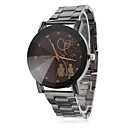 Unisex Lovers Pattern Black Alloy Quartz Wrist Watch
