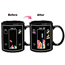 Magic Color Changing Toy Bricks Pattern Ceramic Cup Mug