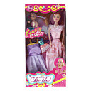 Barbie Doll Wardrobe with Baby Doll and Two Dresses (Assorted Colors, Model:8006)