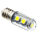 E14 1W 7x5050 SMD 60-80LM 6000-6500K Natural White Light LED Bulb Lodówka (220V)