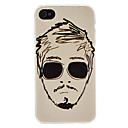 Head of Man Pattern Hard Case for iPhone 4/4S