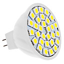 5W GU5.3(MR16) Lâmpadas de Foco de LED MR16 30 SMD 5050 420 lm Branco Natural DC 12 V