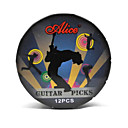 Alice - Dark Blue Round Picks Metal Box with 12 Picks