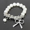 Silver Bowknot Pearl Bracelet