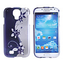 Dark Blue Flower Pattern Hard Case für Samsung Galaxy i9500 S4