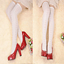 Buy Pure White Heart Pattern Cotton Sweet Lolita Knee Socks
