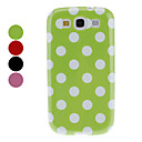 Dot Pattern TPU Soft Case for Samsung Galaxy S3 I9300 (Assorted Colors)