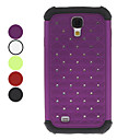 Detachable Grid Pattern Hard Case with Rhinestone for Samsung Galaxy S4 I9500 (Assorted Colors)