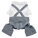 Lovely Stripe Pattern Formal Shirt with Pant for Dogs (Assorted Color,XS-L)