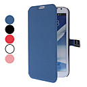 Solid Color Full Body Case with Card Slot and Magnetic Snap for Samsung Galaxy Note 2 N7100(Assorted Colors)
