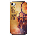 Retro Lumber Farvet Tegning Mønster Black Frame PC Hard Case for iPhone 4/4S