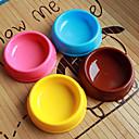 en forme de cercle en plastique animal bol de nourriture pour chiens chats (assortiment de couleurs, tailles)