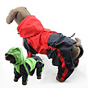 PethingTM-Dog Raincoats-XS/S/M/L/XL/2XL/3XL-Spring/Fall-Green/Red-Windproof/Waterproof