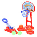Kid's Adjustable Plastic Basketball Shelf Play Set