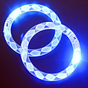 Adjustable LED Flashing Bracelet Transparent Colorful Concert Party Prop(Random Pattern)