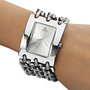 Men's Analog Quartz White Face Silver Steel Band Bracelet Watch (Silver)