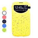Rock Textuur Screen Zichtbare PU Leather Full Body Case voor Samsung Galaxy S4 I9500