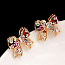 Women's Korean diamond bow sweet earrings E450