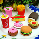 Fast Food Shaped Eraser Set(4 PCS)