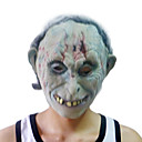 White Zombie Mask with Head Cover for Halloween Costume Party