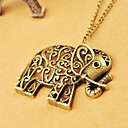 Buy European American jewelry retro hollow carved cute elephant sweater chain N478