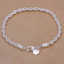 Silver Plated Copper Chain Bracelet