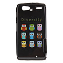 Diversity Owls Pattern TPU Material 2-In-1 Back Case for MOTO XT910/XT912