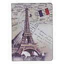 Retro Eiffel Tower Pattern PU Leather Case for iPad 5