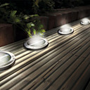 Stainless Steel Solar LED Light Deck Ground Lights Patio Light