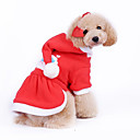 Dog Coats / Hoodies - XS / S / M / L / XL - Winter - Red - Christmas / New Year's - Cotton